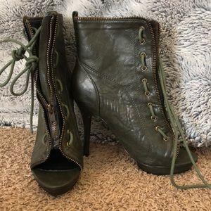 Women's peep toe heel boots 👢